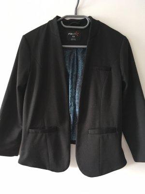 Fishbone Blazer corto negro-azul aciano