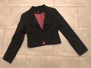 H&M Blazer corto nero-rosa