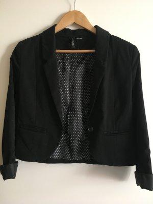 Kurzer Blazer in schwarz