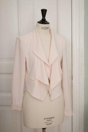 Kurzer Blazer mit Wasserfallkragen in rosé - perfekt für die Hochzeit / Abiball