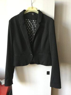 Kurzer Blazer - schwarz - Größe 38 - H&M