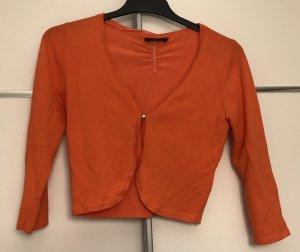 Kurzer Cardigan orange