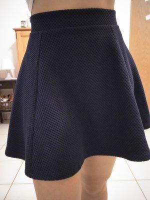 H&M Falda circular azul oscuro