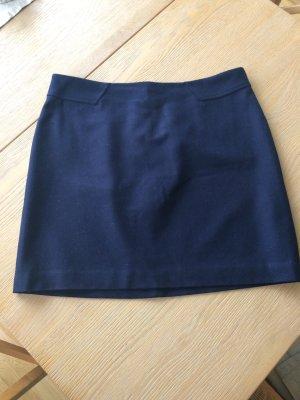 Kurzer dunkelblauer Wollrock von Esprit