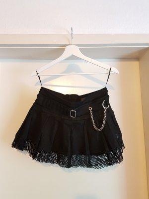 Jupe à plis noir-argenté coton