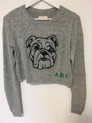 Kurzer grauer Pullover von Abercrombie & Fitch