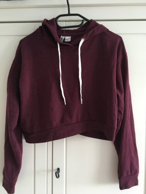H&M Hooded Sweater blackberry-red-brown violet