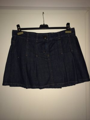 kurzer Jeans-Faltenrock von Sisley