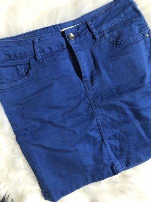 Kurzer Jeans Rock in Royal Blau