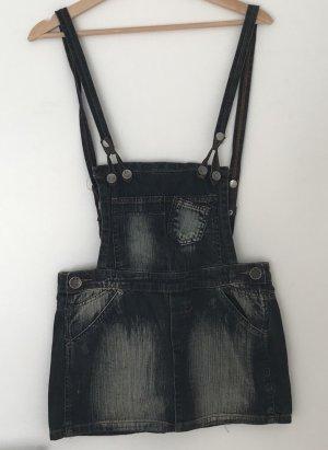 Fishbone Denim Skirt blue