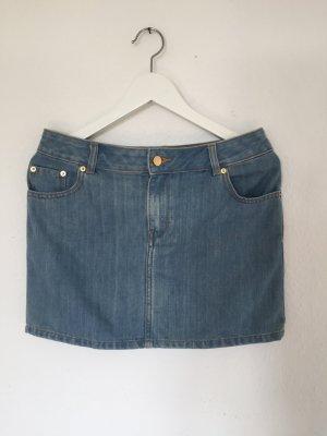 kurzer Jeansrock in mittelblau