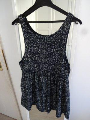 Mango Jumpsuit dark blue-white
