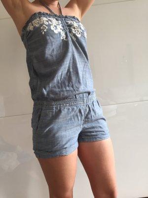 Kurzer Jumpsuit jeansblau, Abercrombie & Fitch XS