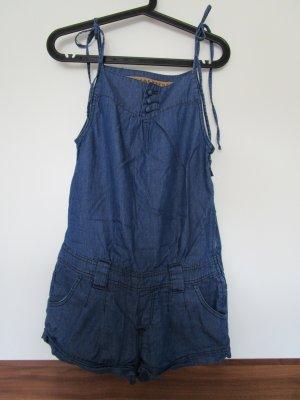 kurzer Jumpsuit/Overall aus Jeansstoff