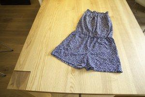 Kurzer Jumpsuit von edc in graublau, Größe 36 schulterfrei