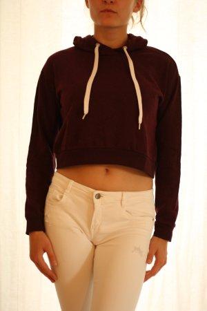 H&M Divided Capuchon sweater roodbruin Katoen