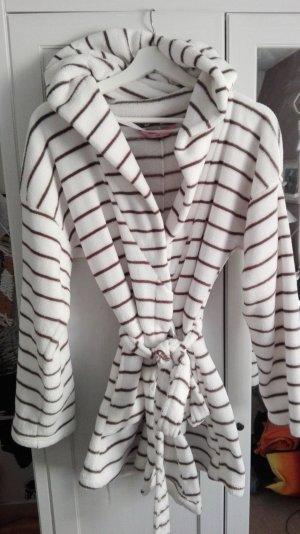 Hunkemöller Bathrobe white-grey polyester