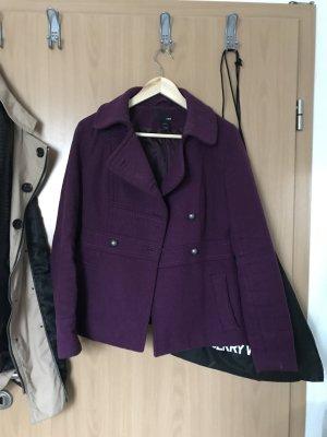 H&M Cappotto in pile viola-marrone-viola
