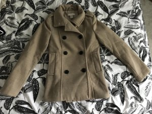 Kurzer Mantel beige