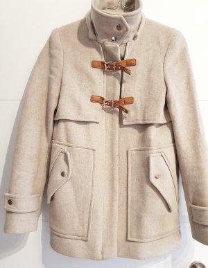 Kurzer Mantel beige mit Kragen
