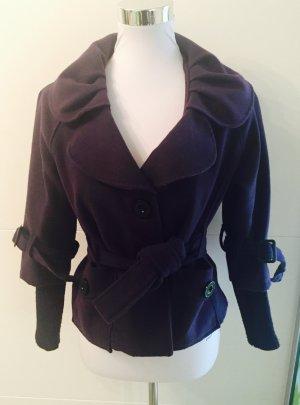 Kurzer Mantel - dunkelviolett