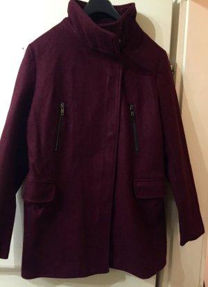 kurzer Mantel in Bordeaux