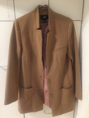 Kurzer Mantel/lange Jacke, camel, rosa Innenfutter