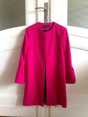 Kurzer Mantel pink Zara XS