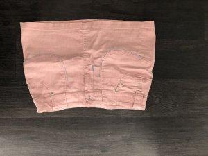 Jupe en jeans rose clair