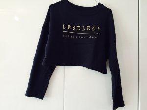 Kurzer nachtblauer Sweater