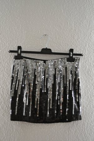 bebe Minifalda negro-color plata