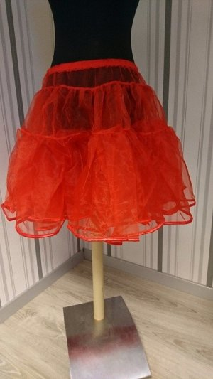 Overskirt red mixture fibre