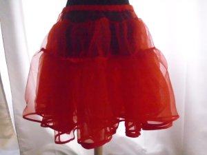 Jupon rouge tissu mixte