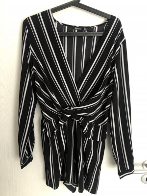 Boohoo Jumpsuit black-white