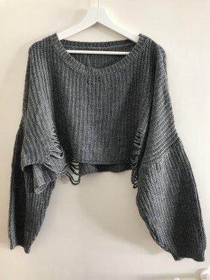 Pull oversize gris-gris foncé