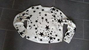 Kurzer Pulli mit Sternen Größe L Divided H&M