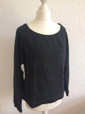 Kurzer Pulli von Zara | Schwarz Weiß meliert