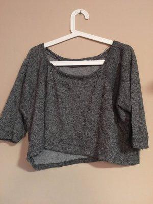 Pull & Bear Short Sleeve Sweater dark grey-anthracite