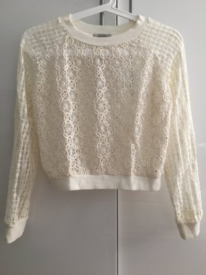 Kurzer Pullover aus spitze