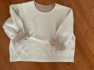 Uniqlo Pull oversize blanc-marron clair