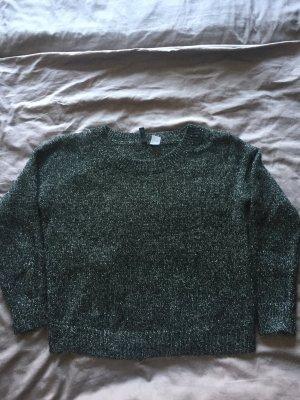 Kurzer Pullover mit schimmernden effeckt