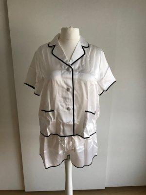 Pijama blanco-negro Seda