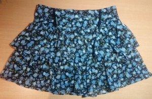 Falda de encaje negro-azul