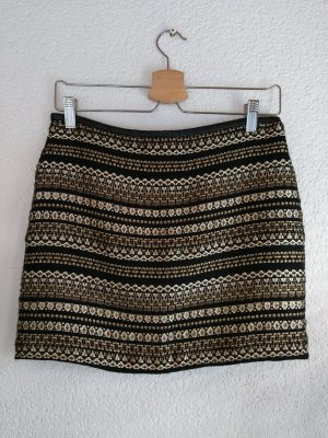 Amisu Miniskirt black-gold-colored