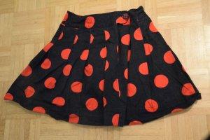 H&M Minifalda negro-rojo Algodón