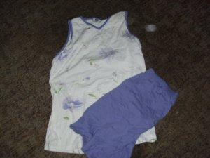 Ropa deportiva blanco-lila grisáceo Algodón
