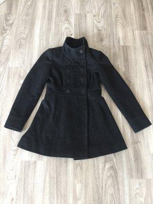 Kurzer schwarz-grauer Mantel von Jane Norman