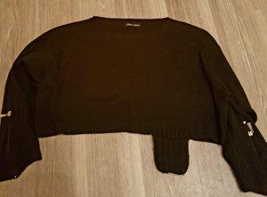 kurzer schwarzer Pullover