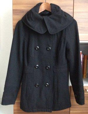 Kurzer schwarzer Wollmantel von Vero Moda in der Größe xs