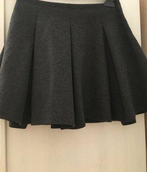 Zara Falda de patinador gris oscuro-gris
